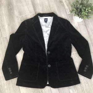 GAP women's black velvet blazer/jacket, Size 8